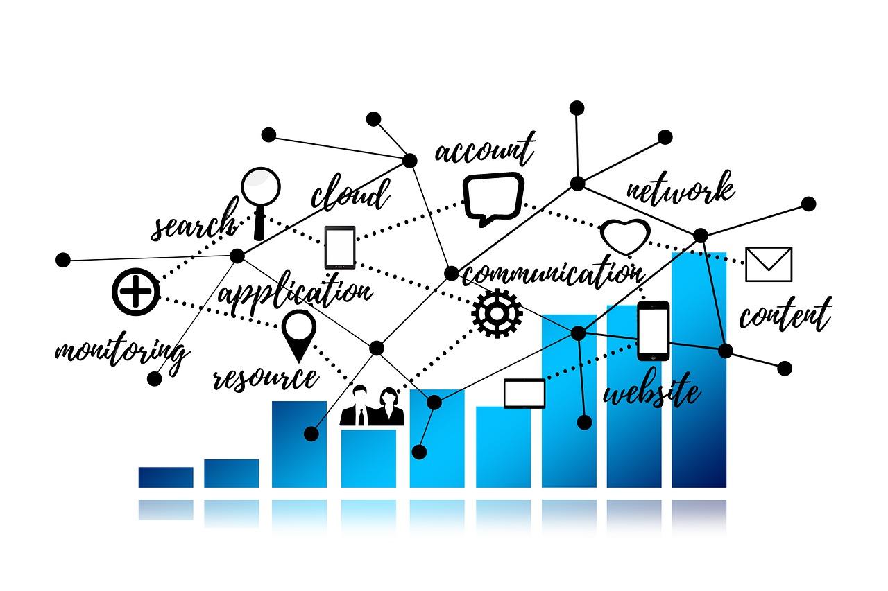Graph Statistics Network Technology  - geralt / Pixabay